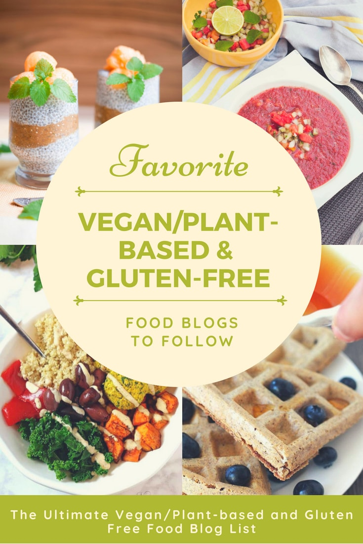 list of vegan and gluten free blogs my pure plants