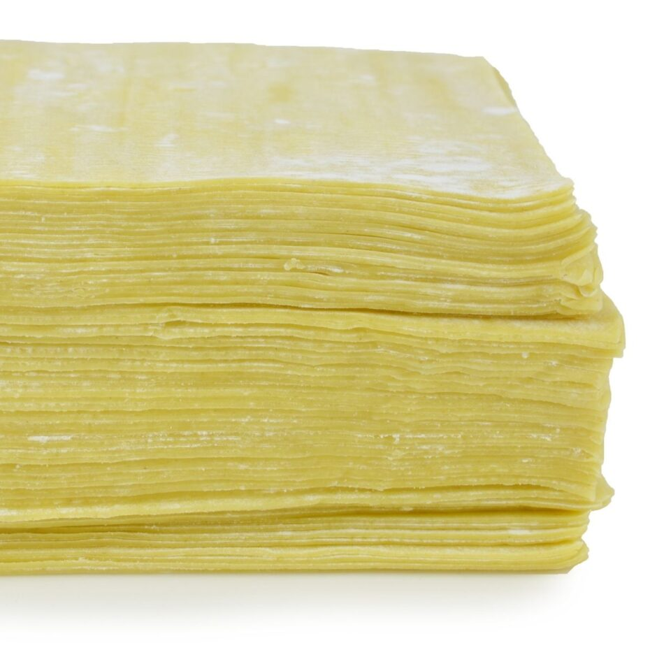 Yellow thing pastry wrappers stacked